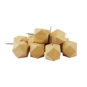 Cabeza de alfiler de madera de cuboctaedro