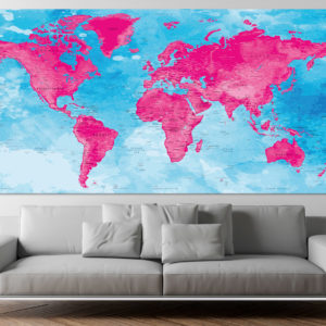 Afiche de Mapa Mundo – Darvaza