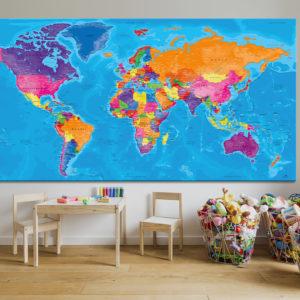 Cuadro Mapa Mundial – Manarola