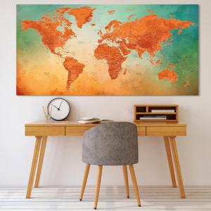 Cuadro Planisferio – Vesubio