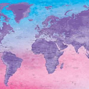 Mapa del Mundo Decorativo – Fuji