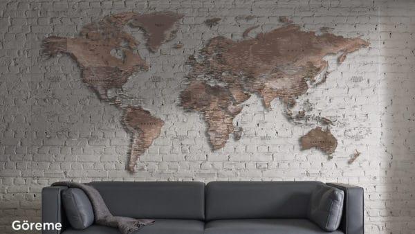 Mapamundi Plexiglás Transparente