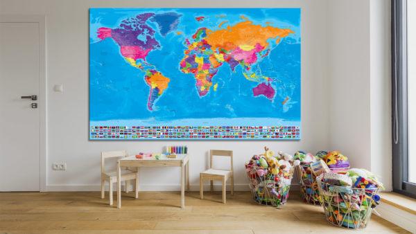 Mapa-del-Mundo-con-Banderas