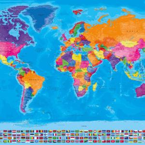Mapa del Mundo Completo con Banderas – Manarola