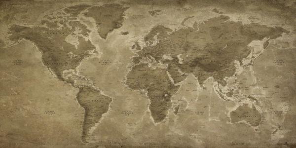 Mapa-del-mundo-Vintage