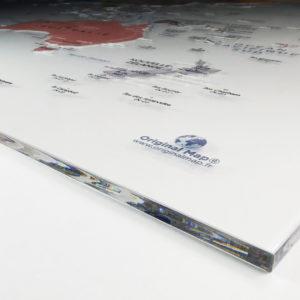 Mapamundi en Plexiglás Transparente