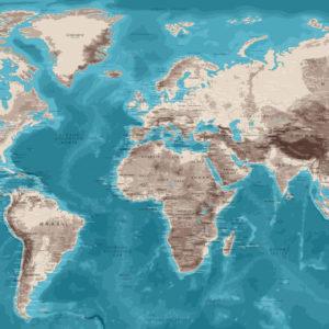 Planisferio Mural – Moái